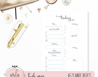"DAILY PLANNER UNDATED | Planner Printable Inserts A5 | ""Darling Planner Collection"""