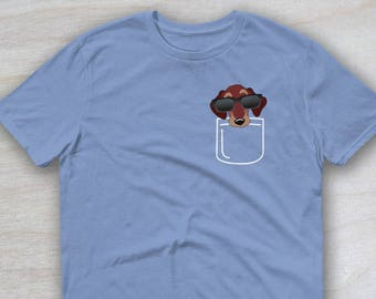 Wiener Dog T-Shirt, Dachshund In A Pocket, Cute Doxie Gift, Funny Weiner Dog Shirt