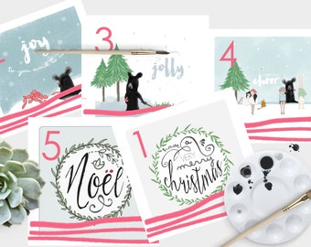 Christmas Card Pack x 10