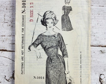 1960s dress pattern / Spadea 1014 by Anthony Bloffa / 1960s cocktail dress / bust 35""