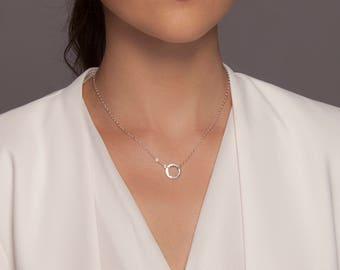 Eternity necklace, Eternity necklace silver, karma necklace, open circle necklace, karma circle, karma silver necklace, silver karma