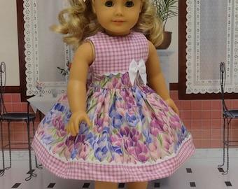 Summer Tulips - Dress for American Girl doll