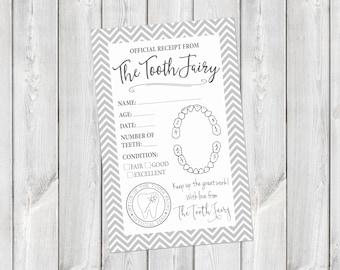 Tooth Fairy Printable Receipt    Tooth Fairy Letter Download    Tooth Fairy Certificate    Tooth Fairy Receipt Printable (DIGITAL PRODUCT)