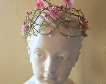 Pink Pip Berry Vine Crown / Garland / Wreath