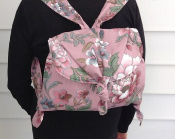 Soft Floral Backpack Purse / Handbag/Fabric Bag/Tote