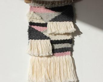 Weaving. Wool. Gray. Rose