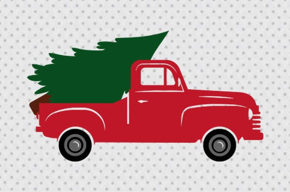 Old Fashioned Truck Christmas Background