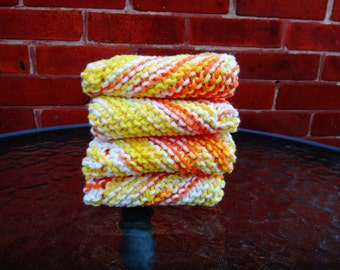 Hand knit dish cloths 100% cotton - custom made/ Housewarming Gift/ Kitchen/ Spa cloth