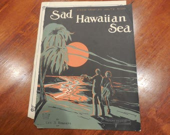 Sad Hawaiian Sea Sheet music – 1923