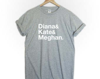 Royal wedding Princess Diana Kate Meghan tshirt shirt tee top unisex tumblr gift memorial