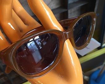 1990's unworn Charmant brown sunglasses.