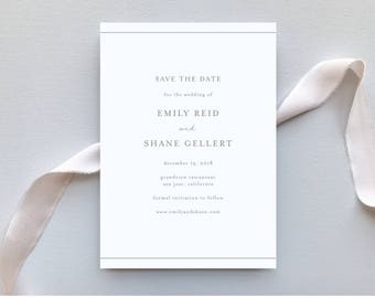 Wedding Save the Dates / Botanical Minimalist Invitation Suite / Minimalist, Chic, Outdoor Wedding / #1141