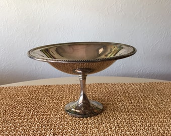 Oneida Silver Pedestal Dish