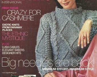 Vogue Knitting Magazine Fall 1999