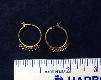 Gold colored hoop earrings