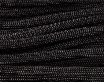 4mm black parachute cord - rope - Paracord - Para cord - 10 feet / 3 meters / 3.33 yards (1457)