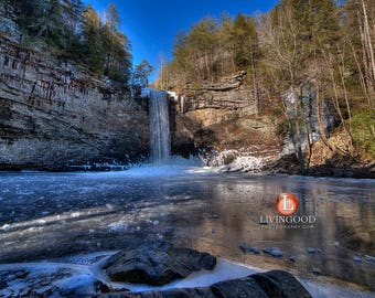 Chattanooga Landscape Photography - Foster Falls Waterfall frozen