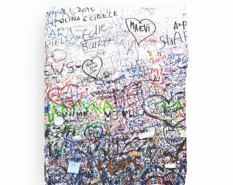 Graffiti Duvet Cover, Dorm Bedding, Graffiti Art Duvet, Teen Girl Room Decor, Dorm Decor, Duvet Cover Twin, Queen, King, Hearts, Multicolor
