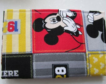 Mickey Mouse, Mickey Mouse Party, Disney Pass Holder, Credit Card Wallet, Business Card Holder, Small Wallet, Fabric Wallet Gift Card Holder
