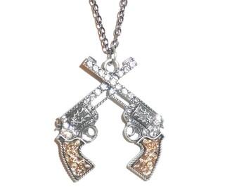 Western Gun Necklace