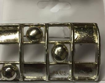 Vintage Jordache brooch Silver
