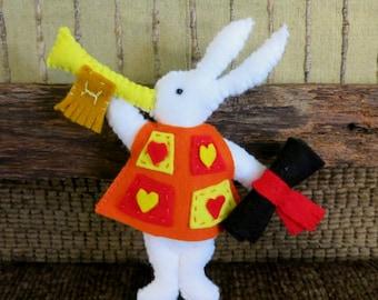 Alice in Wonderland Rabbit, Stuffed Toy, Children's Play Soft Toys, Nursery Rhymes, Kids Plushie, Pretend Play