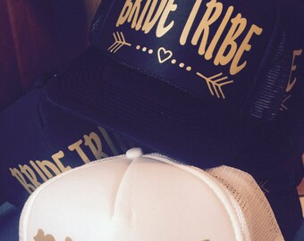 Bride Tribe Hats / FREE BRIDE Hat* / Bachelorette Party / Bridal Party / Bride to Be / Bridemaids / Bridemaid Gifts