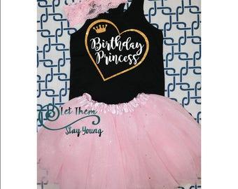 Birthday Princess shirt, birthday princess, birthday princess party, birthday shirt, princess birthday outfit, first birthday tutu outfit
