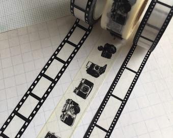 Film Strip and Vintage Camera's washi tape sample