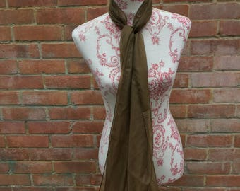 Brown sheer chiffon vintage scarf