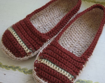 Crochet Slipper Pattern Womens House Shoes 3 Sizes Instant Download Easy To Make May Resell Finished
