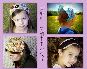 ADULT + CHILDREN Wide or Narrow Fabric Headband Pattern - Headcovering Pattern - Head covering Pattern - Head Scarf Pattern - Sewing Pattern