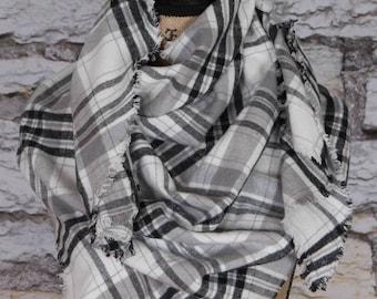 Plaid scarf wrap