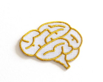 Brain Embroidered Patch, Iron on patches, Sew on Patches, woven patch, Rock Cakes, Brighton