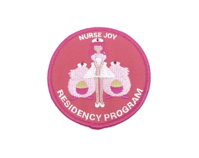 Nurse Joy Residency Program (Pink) Pokemon Inspired Iron-on Patch | Hand Made Patch | Pokemon Patch