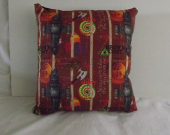 "Firefly Serenity Cushion 18"" x 18"", handmade"