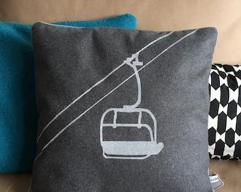 Gray chair cushion