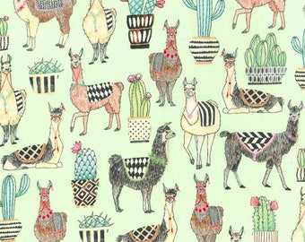 Michael Miller - Lovely Llamas - CX7297-MINT - D - 100% cotton fabric - Fabric by the yard(s)