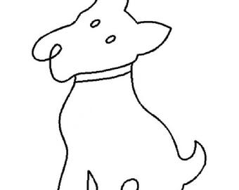 "Scotty Dog Sitting 5""x7"" - EL212"