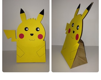 Pokemon party decorations, pokemon party bags, picachu party, pikachu party