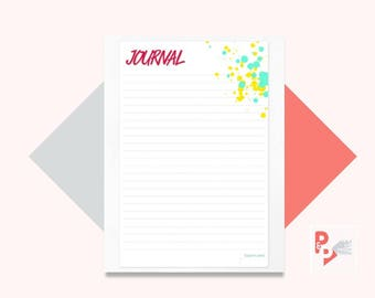 JOURNAL Happy Planner Printable Insert, Create 365, Happy Planner Inserts, Happy Planner Classic, MAMBI Planner, Instant Download