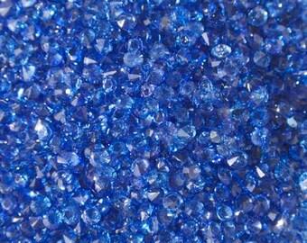 Synthetic indigo blue rhinestone 3mm (non drilled)