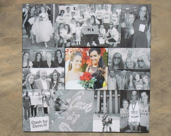 """Maid of Honor Collage Picture Frame, Custom Bridesmaid Frame, Personalized Sister Gift, Bridal Shower Gift, Unique Parent's Gift, 12"""" x 12"""""""