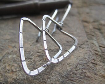 Simple Favorite Triangles or Arrows- Sterling Silver or Copper Earrings