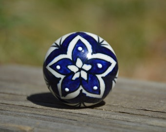 Flower Drawer Knob Etsy