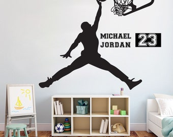 More colors. Basketball Michael Jordan Wall Decal ...  sc 1 st  Etsy & Jordan wall decal | Etsy