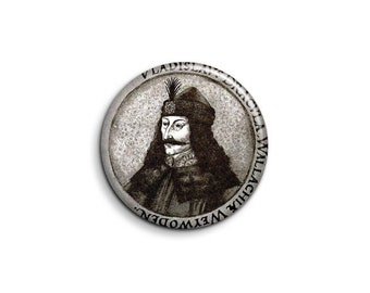 Vlad the impaler 1056 - pinback button or magnet 1.5 Inch