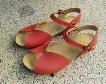 Holidays Sale 20%, Free Shipping, vegan Sandals, foodbet sandals, Summer Shoes, , Straps Sandals  vegan  MODEL DURAZNO, color peach blossom
