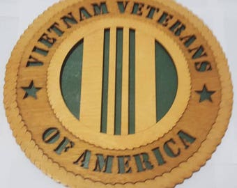 Vietnam Veteran Wall Plaque Wooden Model