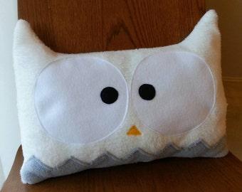 Owl Decorative Pillow | Owl Nursery Pillow | Home Decor | Nursery Decor | Animal Pillow | White Owl